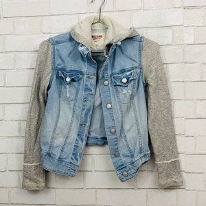 MOSSIMO KNIT DENIM LIGHT BLUE JACKET SMALL